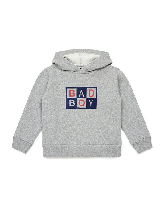 Sweat Garçon Bad Boy - Gris chine