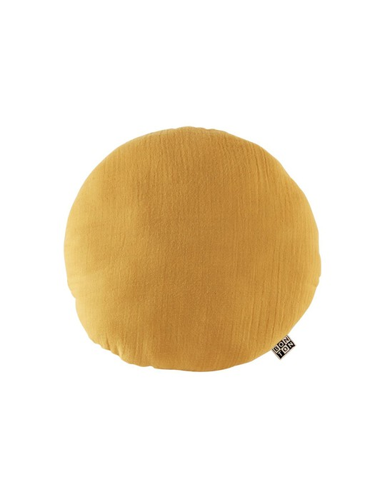 Coussin Dream Rond Jaune Moutarde - Moutarde