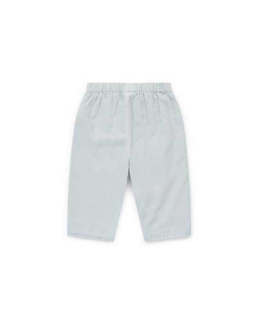 Over-dyed lined cotton baby trousers - U099