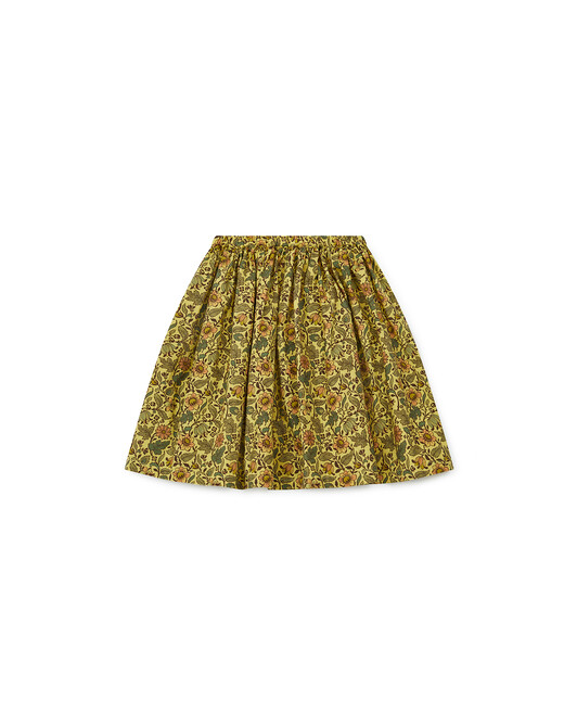 Jupe Liberty Fille Framboise - Coco yellow
