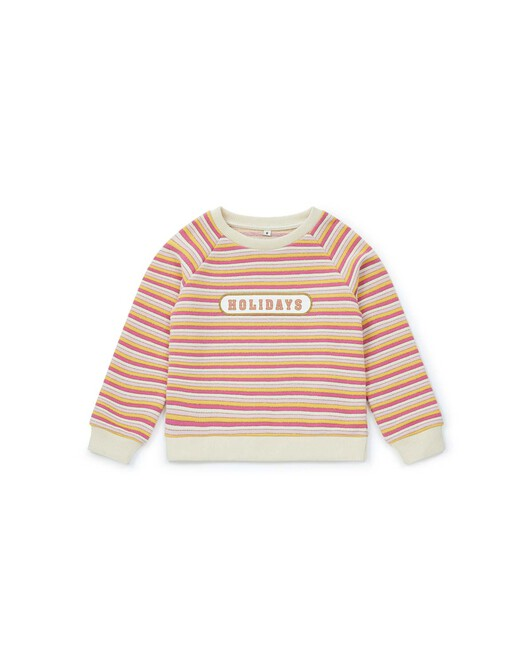 Sweat Too Late Fille - Blanc nacre