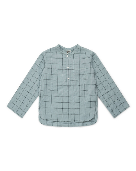 GOTS-certified organic cotton over-dyed check shirt - C611