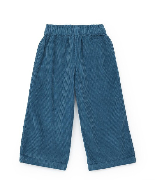 Over-dyed organic cotton large corduroy trousers - U078