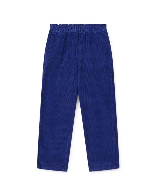Over-dyed organic cotton corduroy girl's trousers - U086