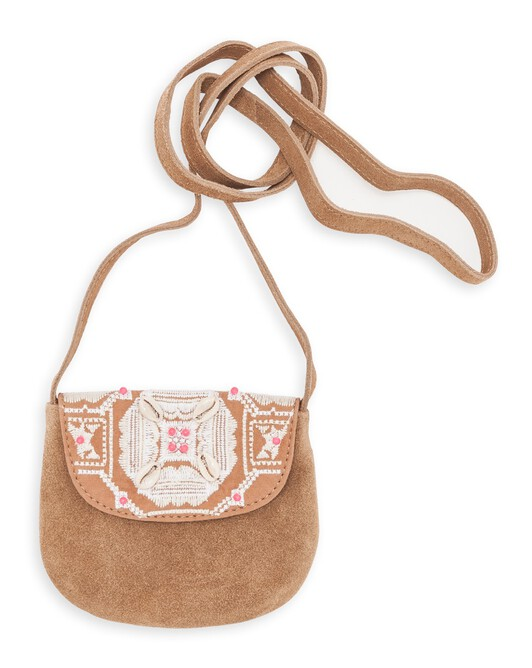 IBIZA EMBROIDERED SUEDE BAG - 000