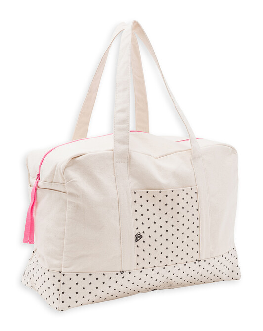 Sac Week-End Bonton - Rose fluo