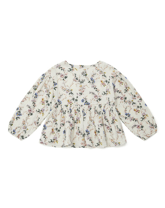 Wallpaper girl's blouse with romantic print - F005
