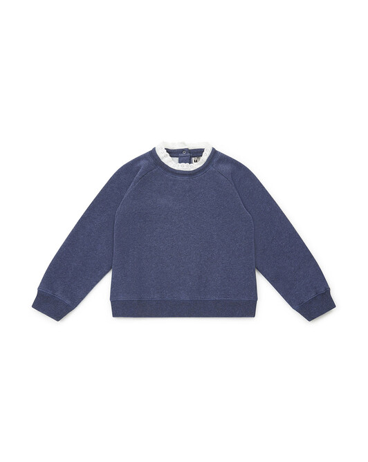 SWEAT FILLE TILIAF - Bleu chine