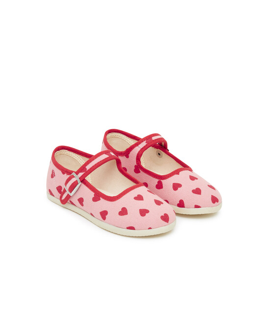 Chaussons Fille Jane Coeurs - Imp mini coeur