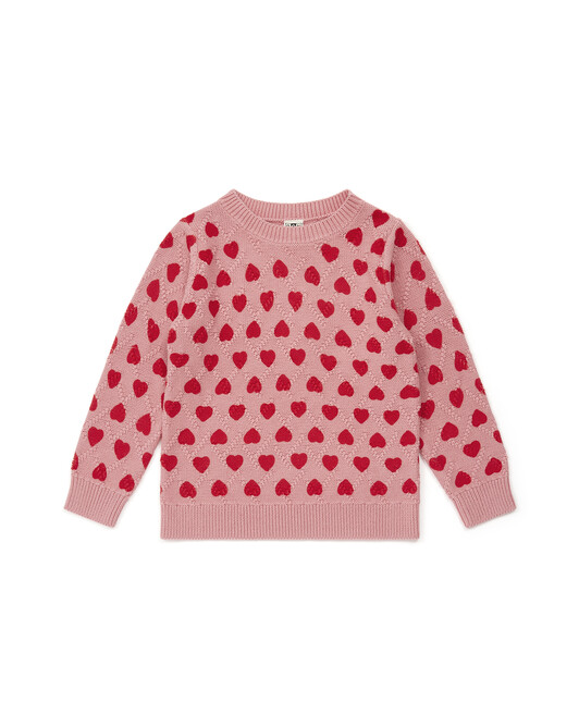 Pull Fille My Heart - Coeur rouge