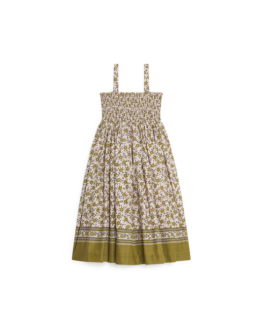 Robe Foulfleur Fille Cardamo - Olive oil