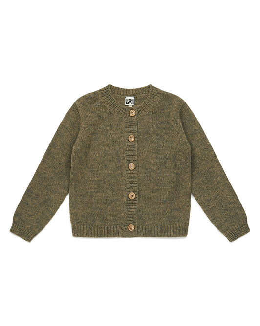 Cardigan Fille Tricot - Biscuit