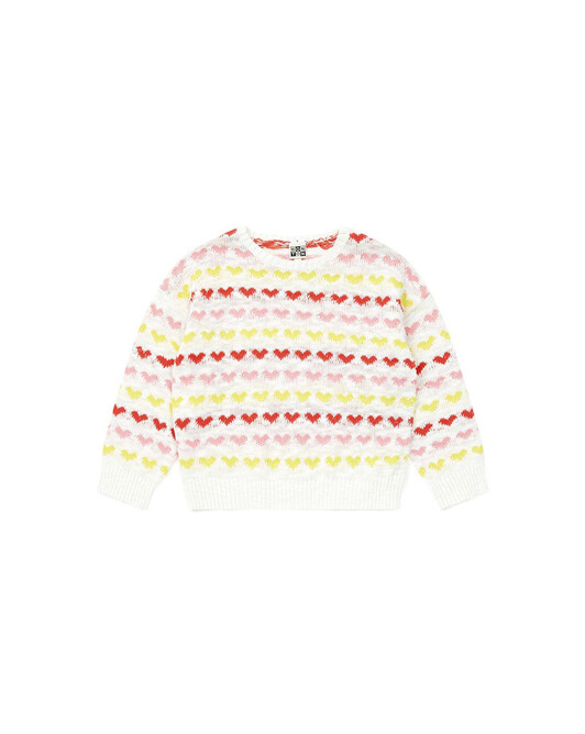 Pull Fille Melone - Blanc nacre