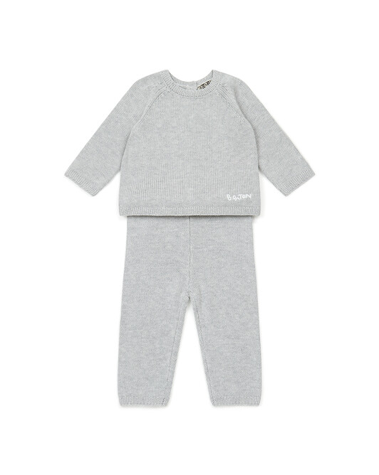 Ensemble Bébé Knit - Gris chine