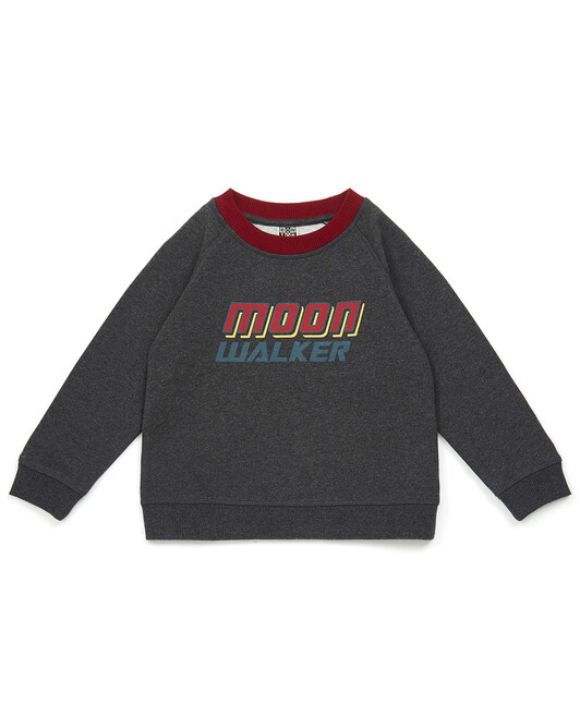 Sweat Garçon Moon - Gris chine fonc