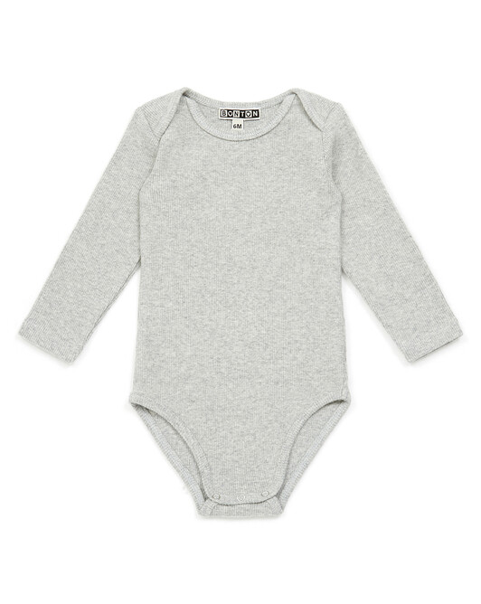 Body Bébé Velours Côtes - Gris chine