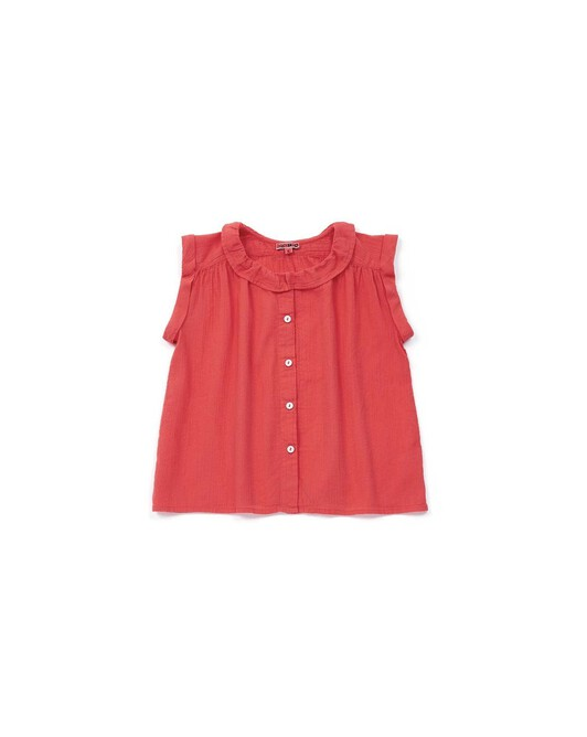Blouse Fille Nectarine - Rouge lobster