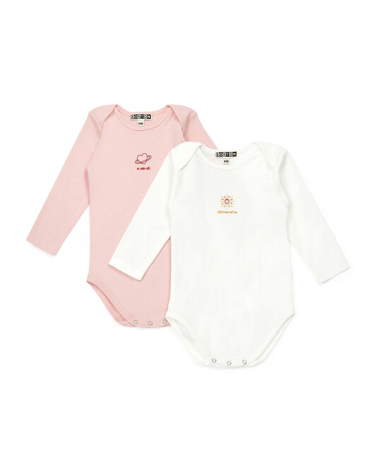 Week End Baby Girl Pack Of Three Body Suit - D000