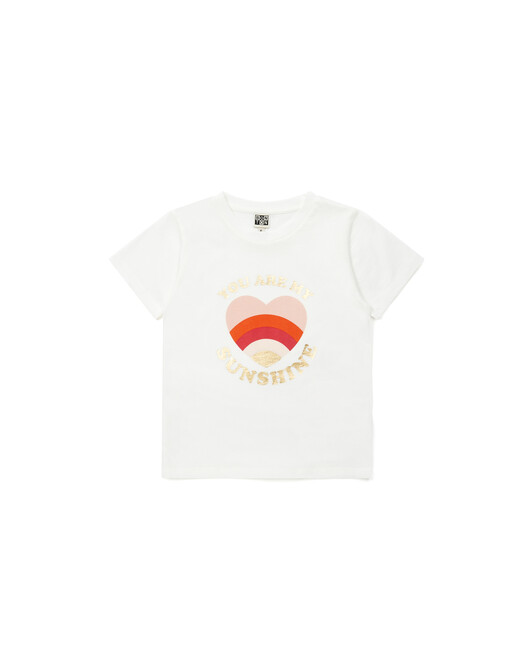 T-Shirt Chica Fille - Blanc nacre