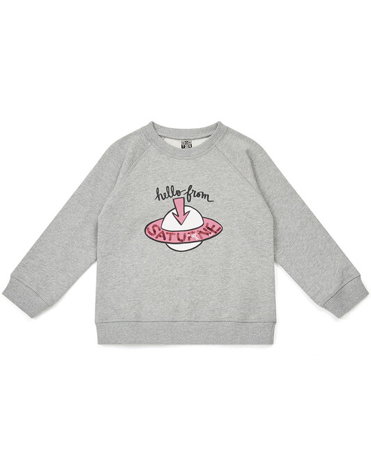 SWEAT SATURN FILLE - Gris chine