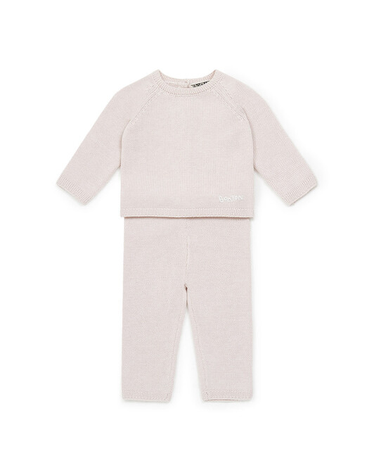 Ensemble Bébé Knit - Ice pink