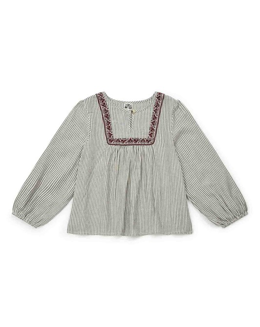 Girl's embroidered peasant blouse - R004