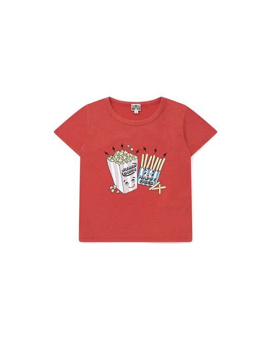 T-Shirt Time Out Fille - Rouge lobster