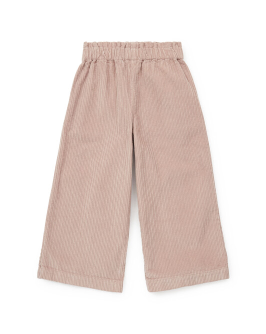 Over-dyed organic cotton large corduroy trousers - U080
